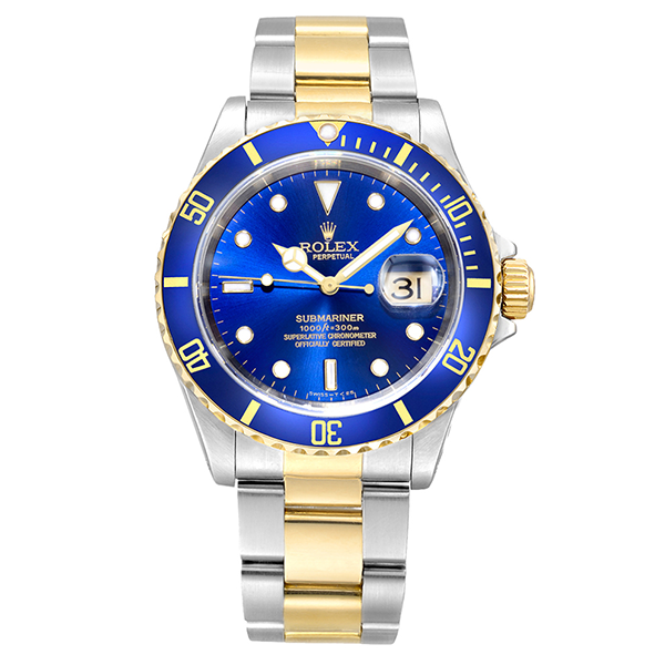 Rolex  Submariner Steel and Gold blue
