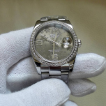 ROLEX DATEJUST STAINLESS STEEL FLORAL DIAL DIAMOND
