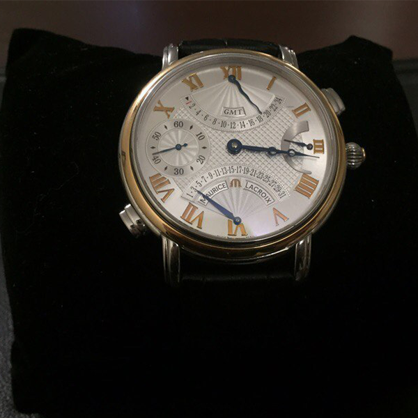 Maurice Lacroix Masterpiece Double Retrograde GMT Gold/Steel