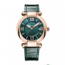 Chopard Imperiale 18k Rose Gold & Green Tourmalines ladies watch