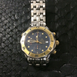 Omega Seamaster Chronograph Steel & 18k Yellow Gold Blue Dial
