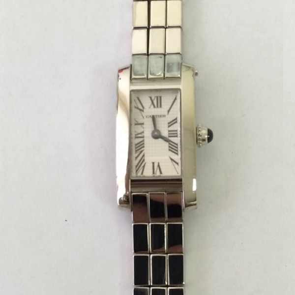 CARTIER LADIES SMALL TANK AMERICAINE WHITE GOLD